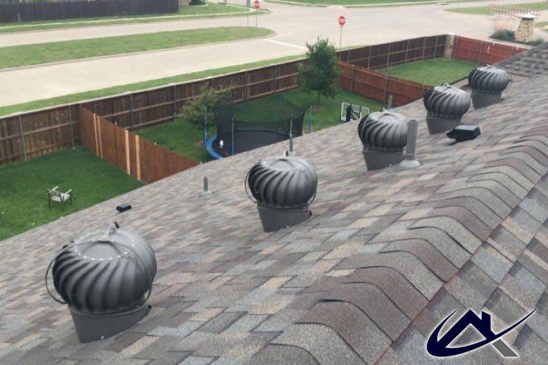 Wind Turbines on New Roof